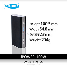 In Laisimo!!!2015 Top Sell Vapor Mod 18650 battery with Organic Cotton Provides Huge Vapor Laisimo Ipower 100w