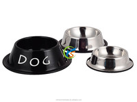 Galvanized steel dog bowl of pet products