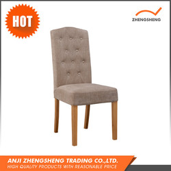 Wholesale Luxury High Back Wooden Fabric Dining Chair,Dining Room Chair,PU Leather