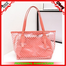 2015 new designer satchel bags,wave point PVC tote bags ,vogue handbags