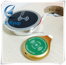 qi wireless charger for office desk, new smart qi wireless desktop charger for furniture