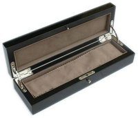 High class wooden pen box with black gross finish