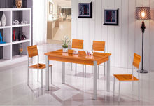 Modern wood dining room table and chair