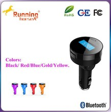 LED screen display frequency Bluetooth wireless connect fm transmitter car charger