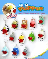 custom pvc animal keyring for gift