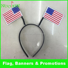 wholesale farbic America flag headband /custom US flag head hair hoop for decoration