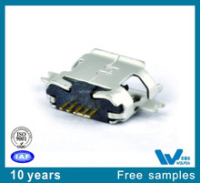 Free samples 5PIN Type A Micro usb2.0 female connector with 0.65mm pitch