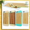 Hot selling wholesale new product wood phone case for iphone 5s/ 6/ 6 plus with aluminum china supplier