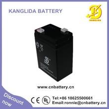 deep recycle 6v rechargeable sla battery,6v 4ah emergency light usage sla battery