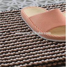 100% polyester microfiber stripe chenille rug