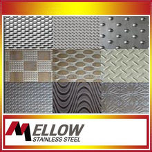 Mellow stainless steel embossed sheet for kitchen For Decoration