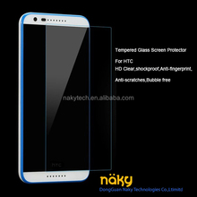 2015 High Quality Transparent Tempered Glass Screen Protector for HTC Desire 510 with wholesale price