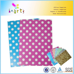 two sides printed cardboard ,cheap printing paper dot design,printing paper board
