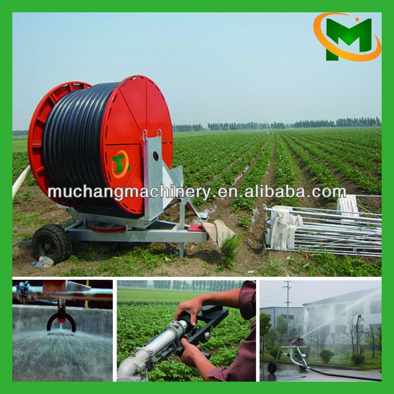 Mobile hose reel irrigation system sprinkler