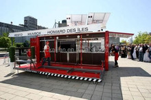 steel removable fast food kiosk container home