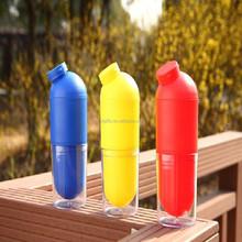 17oz/500ml double wall capsule shaped drinking sport bottle