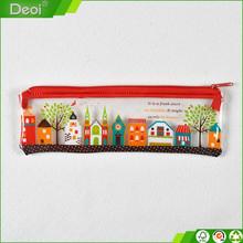 Durable Eco-friendly PP pen case Polypropylene PVC plastic pencil bag for various usage: pencil , pen , ruler,eraser, knife etc.