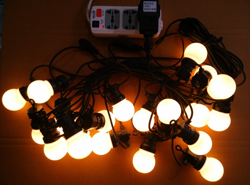 24V G50 bulb LED Festoon belt light ,LED Ball light string Outdoor Christmas Decorative Fairy ...
