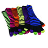 100% acrylic colourful knitted kids winter magic stretch gloves