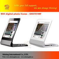 "7"" Android System WIFI wireless digital picture frame with 4GB internal memory"