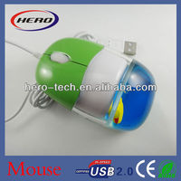 latest computer mouse with liquid and customized 3d floater
