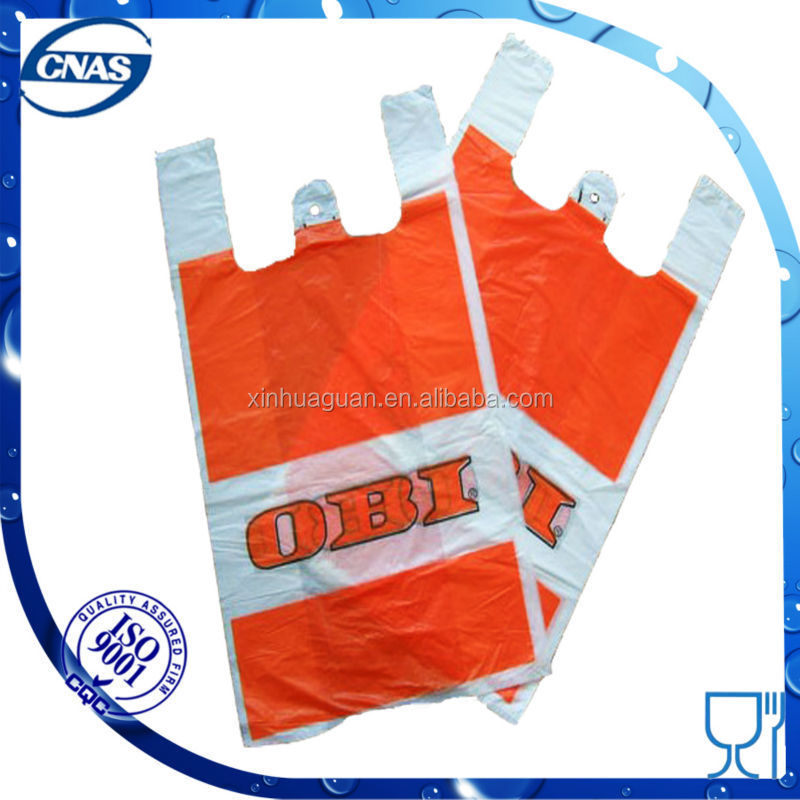 China factory wholesale plastic t shirt shopping bags with for Wholesale t shirt printing china