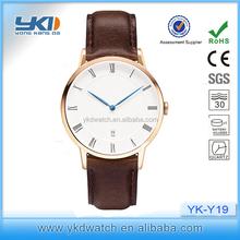 Charming 38mm unix watch,2015 dw style leather strap watch
