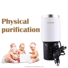 Double function electrical car air freshner perfume for car purifier air fresher mini ionizer