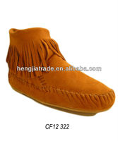 Ladies fashion real leather moccasin boot