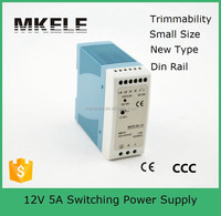 MDR-60-12 60w miniature guide strip din rail 12v 5a switching power supply 12v