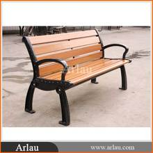 Arlau FW36 outdoor cast iron synthetic wood wpc recycle plastic wood benches
