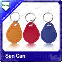 125KHz rfid key fob TK4100 EM4200 plastic key fob Waterproof RFID key fob for access control