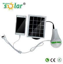 2015 Newest products portable home solar systems with solar led blub and phone charged