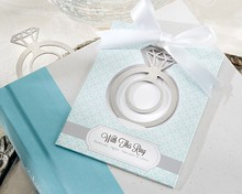 """New Arrival """"With This Ring"""" Brushed-Metal Engagement Ring Metal Bookmark"""