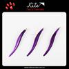 Pretty Purple Color Girls Eyebrow Tweezers Stainless Steel Curled Tweezer Scissors