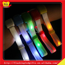 Promotional and hot selling happy birthday favors led nylon bracelet party favors and party supplies for kids nylon bracelet