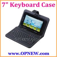 """7 inch tablet Protective case USB Keyboard Case PU Leather Case with Stand for 7"""" Android Tablet PC Black Pink,Red"""
