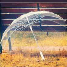 2015 new arrival poe pvc 16k transparent umbrella