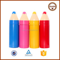 Promotion new funny pencil shaped double wall insulated stainless steel vacuum thermo cup