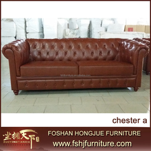 Luxury furniture italian leather chesterfield sofa for living room TX-CHESTER A