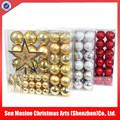 atacado shatterproof decoração de plástico bolas de natal conjunto