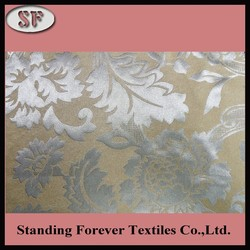 Hot sale free sample 100% polyester jacquard waterproof fabric for curtains