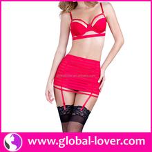 2015 top quality garter belt set underwear for women