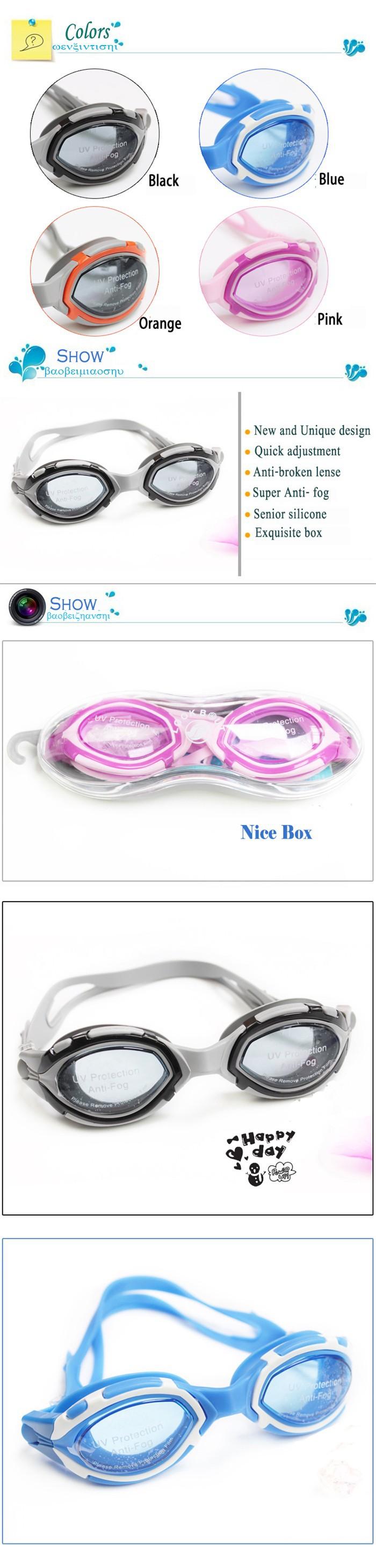 новый профессиональный взрослых унисекс плавательные очки водонепроницаемая незапотевающая анти УФ / УФ защиты speedo стиль плавания очки очки