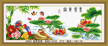 FASHION WEDDING DECORTION DIY DIAMOND PAINTING WITH RICH MANDARIN DUCK FOR 2014 HOT SELL