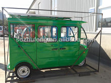 three wheel solar passenger tricycle for 5 person