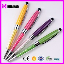 Charming design crystal touch screen pen/dual fuction stylus ball pen 2 in 1