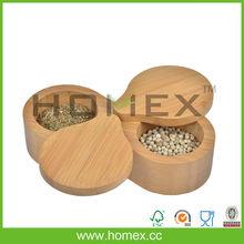 Bamboo Swivel Top Spice and Salt Box/Bamboo Kitchenware/Homex_FSC/BSCI
