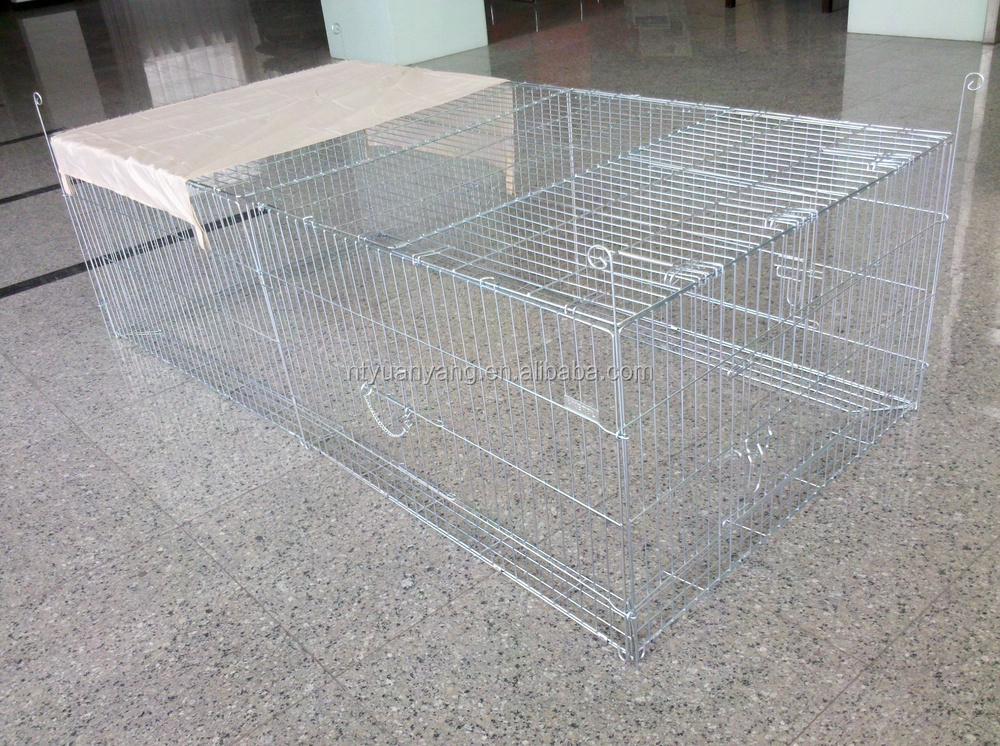 wire pet barrier zinc color