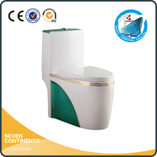 siphon S trap P trap color one piece toilet for bathroom